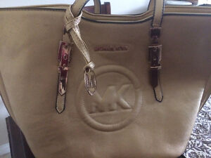 Michael kors tote bag in dull golden colour for sale