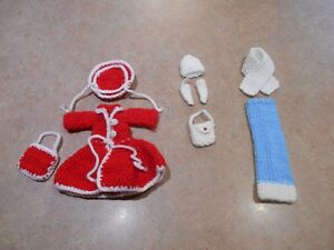 Barbie clothes & accesories handmade knit/crochet