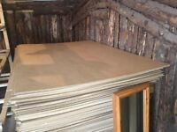 Hardboard sheets brand new stock approx 110cm x 156cm
