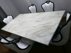 Beautiful Marble Dinning Table Set