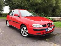 Seat Ibiza Sport 3rd hatchback in red SUPER LOW MILES Service History