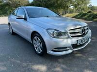 MERCEDES BENZ C220 CDI DIESEL AUTOMATIC BLUE EFFICIENCY EXECUTIVE SILVER COUPE