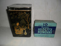 COLLECTIBLE  TINS----CANDY  &  POWDER