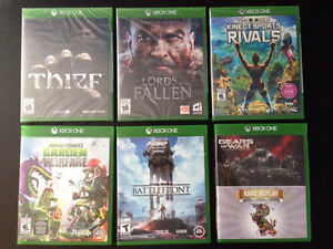 Jeux Xbox One - Gears of War, Rare Replay, Thief, Kinect Sports