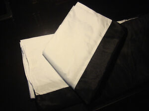 HIGH QUALITY CONFORT-JUPE LIT/BED SKIRT-QUEEN SIZE-BLACK (NEW)