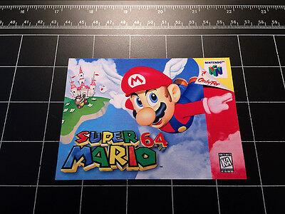Super Mario 64 N64 Box Art Retro Video Game Vinyl Decal Sticker Nintendo 90S