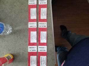 6 side by side tickets to stamps vs Eskimos.  Molson zone