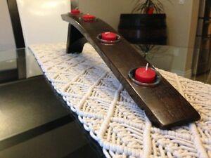 Barrel stave tealight holder-handmade