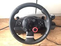 Logitech GT Driving Force - steering wheel and pedals for PC & PS3