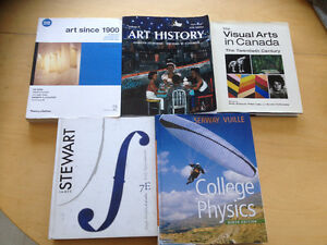 TEXTBOOKS - Physics, Calculus and Art History