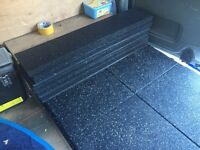 30mm Rubber ramped edge tiles.