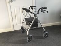 FOUR WHEEL MOBILITY WALKER WITH SEAT (CAN DELIVER)