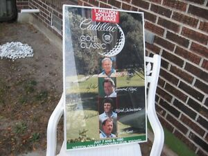 FOR SALE!  1990 Cadillac Golf Classic Framed Poster/Print