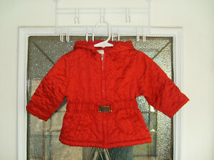 Old Navy Red Jacket with Belt Size 6-12 mo
