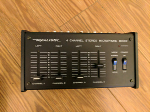 Realistic 4 channel stereo mixer