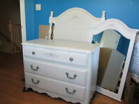 Girls White Twin Bedroom Set