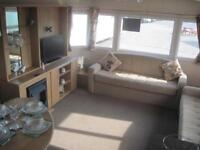 For sale static caravan holiday home preowned used sited South Devon sandy beach