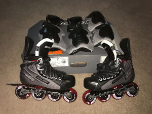 Kids Bauer roller skates with protective gear ALL BRAND NEW