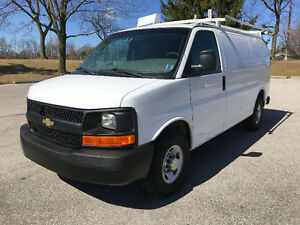 2012 Chevrolet Express 2500 W/ Ladder Rack, Shelving & Divider