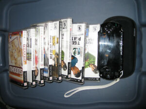 Used Sony PSP Game System with Games