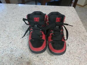 DC High Top Shoes Black/Red Trim Size 13