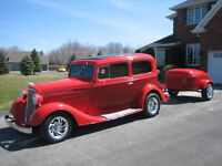 1934 Chev with matching trailer