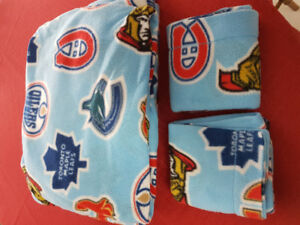 Nhl flannel bed sheets