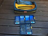 Drill bit sets and bag