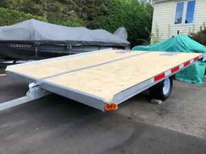 Double snowmobile trailer 1002