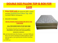 DOUBLE SIZE PILLOW TOP MATTRESS & BOX ON SALE FOR $249 ONLY