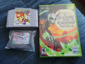 Mario Party N64 Sonic 2 GameGear Nightmare before Christmas Xbox