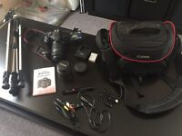 Canon Rebel T3i / 2 objectifs / accessoires