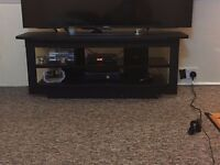 """Tv cabinet stand for sale black Urgent sale required due to space issue For up to 55 """" tv"""