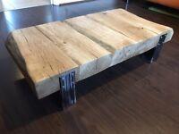 Rustic oak coffee table by Maydwell Design