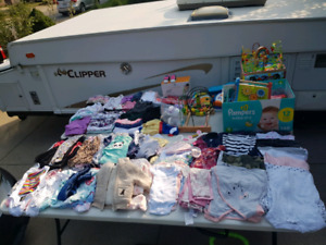 Garage sale girls baby items