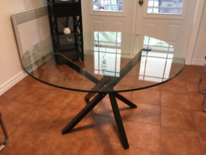 48 inch glass top dining table
