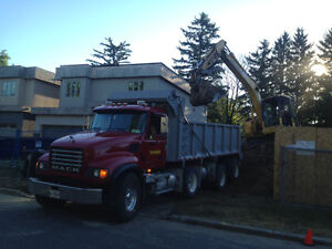 dump truck to hire,dump trucking service,soil removal
