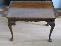 Coffee Table with feather painted top and Queen Anne legs.