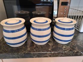 Staffordshire Ironstone Chef Ware Storage Pots