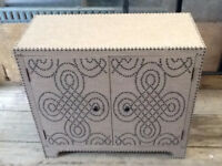 Studded Cabinet with ornament design - Price REDUCED