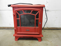 RED DURAFLAME ELECTRIC FIREPLACE