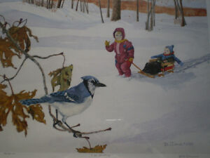 """Bill James"""" I See Something"""" Limited Edition Watercolor Print Kitchener / Waterloo Kitchener Area image 9"""