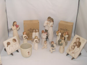 Collection 14 Willow Tree Figurines Date 1999- 2004