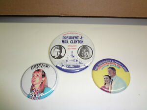 PRESIDENT & MRS. CLINTON BUTTONS