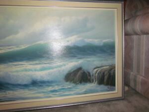 oil painting ocean waves Kingston Kingston Area image 2