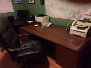 Executive Desk / Corner Table / Credenza / Leather Chair
