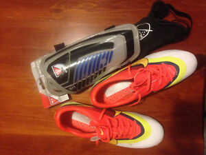 Cleats sz 5 and shin guards $40 ono
