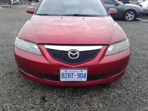 PARTS AVAILABLE FOR A 2004 MAZDA 6