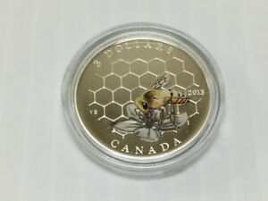 2013 Canada $3 Bee & Hive Animal Architects Series Fine Silver