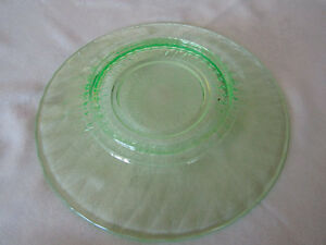 Green Depression Platter 1940's London Ontario image 1